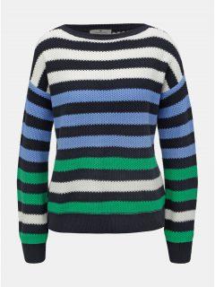 Bílo-modrý dámský pruhovaný svetr Tom Tailor