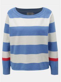 Bílo-modrý pruhovaný svetr ONLY Mette
