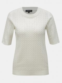 Bílý svetrový top s příměsí vlny Selected Femme Emma