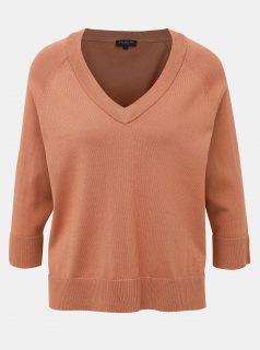 Hnědý svetr Selected Femme Thea