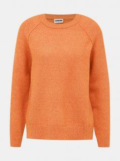 Oranžový svetr s rozparkem Noisy May Mariana
