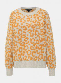 Krémový svetr s leopardím vzorem Dorothy Perkins