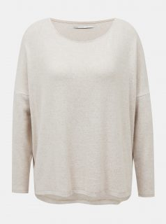 Krémový volný svetr ONLY