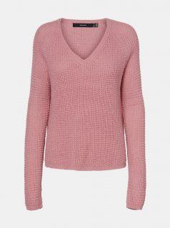 Růžový svetr VERO MODA Leanna