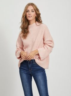 Růžový volný svetr VILA Suril