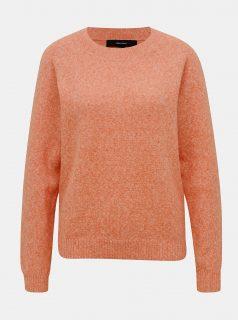 Oranžový žíhaný svetr VERO MODA Doffy
