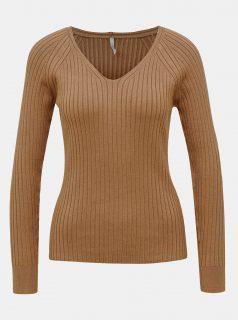 Hnědý basic svetr ONLY Natalia