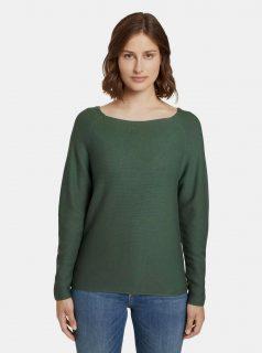 Zelený dámský svetr Tom Tailor Denim