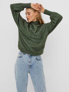 Zelený svetr se stojáčkem VERO MODA