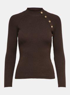 Tmavě hnědý svetr Jacqueline de Yong