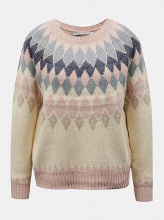 Béžový vzorovaný svetr ONLY