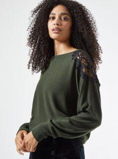 Zelený svetr Dorothy Perkins