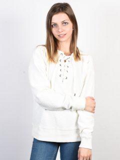 Roxy LUCKY SUNSHINE Marshmallow svetr dámský – bílá