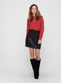 Červený svetr Jacqueline de Yong Shiny