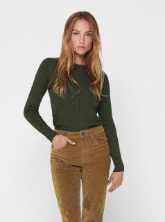 Tmavě zelený svetr ONLY Natalia