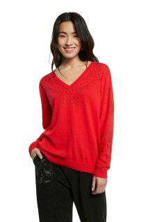 Desigual červený svetr Jers Gante