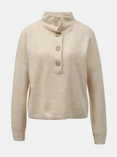 Krémový svetr s knoflíky Noisy May Sonja