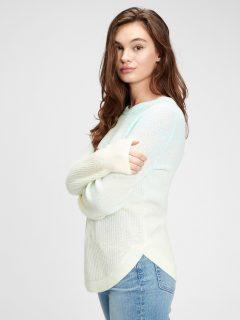 Modrý dámský svetr textured crewneck bk pullover 2