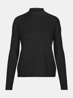 Černý svetr se stojáčkem VERO MODA Lefile