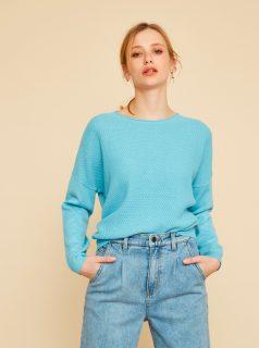 Světle modrý dámský oversize svetr ZOOT Morgan