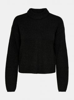 Černý svetr se stojáčkem Jacqueline de Yong Sister