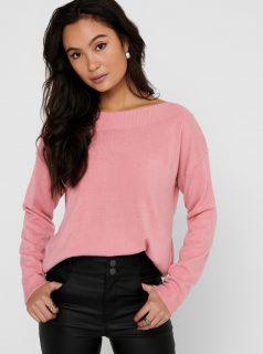 Růžový svetr ONLY Amalia