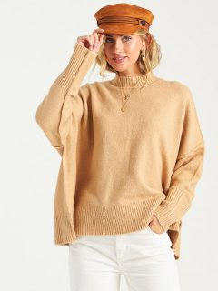 Billabong ENDLESS DAYS CAMEL svetr dámský – béžová