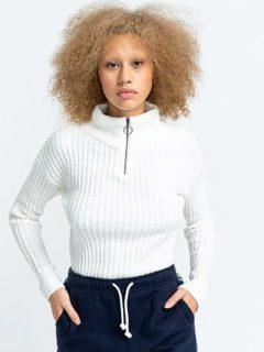 Element ONYX off white svetr dámský – bílá