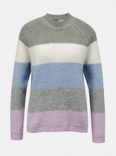Fialovo-šedý pruhovaný svetr ONLY -Jade