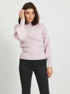 Růžový svetr se stojáčkem .OBJECT-Nola