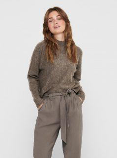 Hnědý svetr se stojáčkem Jacqueline de Yong-Swan