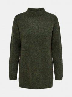 Zelený svetr se stojáčkem Jacqueline de Yong-Karley