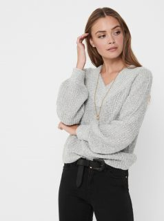 Světle šedý svetr Jacqueline de Yong-Nolia