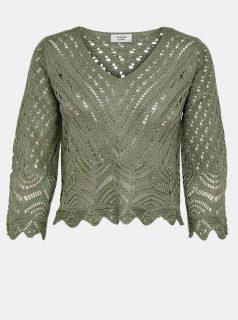 Zelený krátký svetr Jacqueline de Yong-New Sun
