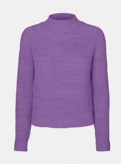Fialový svetr se stojáčkem Noisy May Siesta