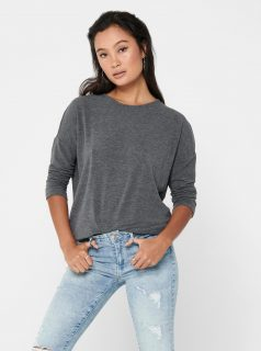 Šedý svetr s 3/4 rukávem ONLY Glamour