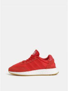 Červené dámské tenisky se semišovými detaily adidas Originals