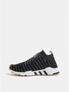 Tmavě šedé dámské tenisky s koženým detailem adidas Originals