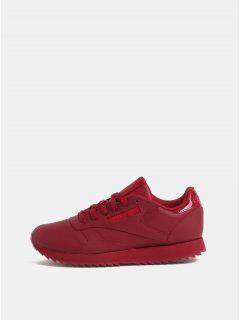 Červené dámské kožené tenisky Reebok Ripple