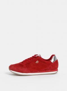 Červené dámské semišové tenisky s.Oliver
