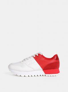 Červeno-bílé dámské tenisky s.Oliver