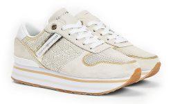 Tommy Hilfiger béžové tenisky na platformě Metallic Flatform Sneaker