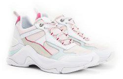 Tommy Hilfiger bílé kožené tenisky Fashion Wedge Sneaker