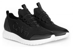 Calvin Klein černé sportovní tenisky Runner Sneaker Laceup Mesh