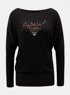 Černé dámské tričko s netopýřími rukávy BUSHMAN Pensacola