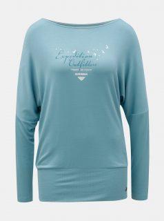 Modré dámské tričko s netopýřími rukávy BUSHMAN Pensacola