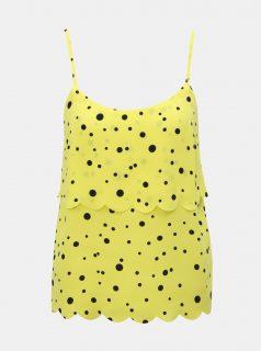 Žlutý puntíkovaný top Miss Selfridge