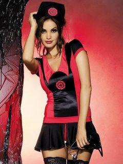 Sexy kostým Naughty nurse dress – Obsessive černá/červená