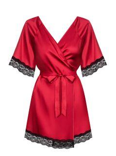 Elegantní župan Sensuelia peignoir red – Obsessive červená