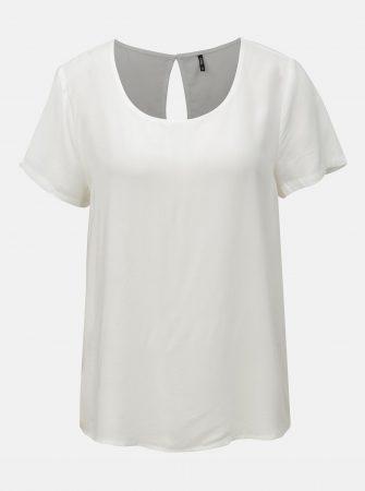 Bílá volná halenka s krátkým rukávem ONLY First - Halenky 847bb46aa6